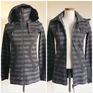 Lululemon Striped Macro Stride Hooded Jacket